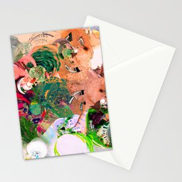 Virtually Surreal Degrees 4D Brick Leaf View No. 2 by Oli Goldsmith Stationery Cards