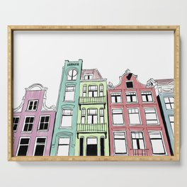 Amsterdam in Color Serving Tray