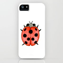 Ladybug | Entomology watercolor art iPhone Case