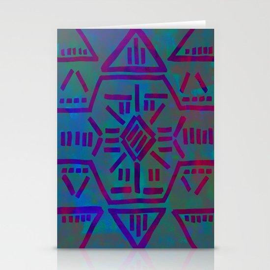 Moonrise - Turquoise Stationery Cards