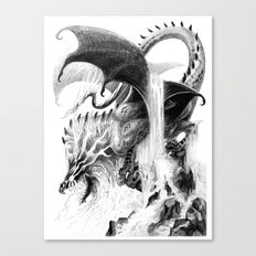 Storm Dragon Canvas Print