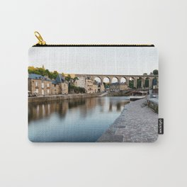 The Habour of  Dinan in France Carry-All Pouch
