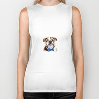 bulldog Biker Tanks featuring bulldog by Heathercook