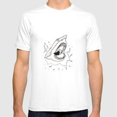 Shark of the Week Mens Fitted Tee White SMALL