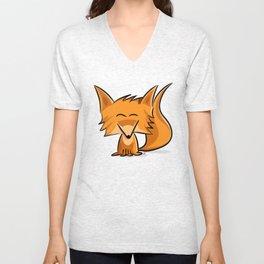 Cute fox Unisex V-Neck