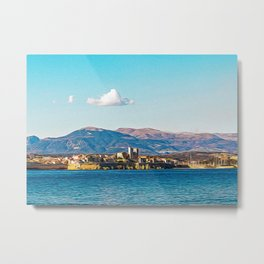 Seacoast of Antibes in a sunny winter day Metal Print