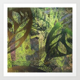 lush forest abstract Art Print