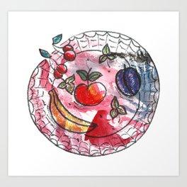 Fruit on a platter Art Print