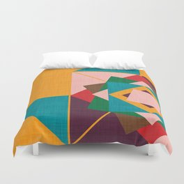 wind rose yellow Duvet Cover