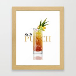 Rum Punch Framed Art Print