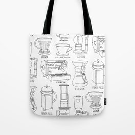 Coffee Brewing Tote Bag
