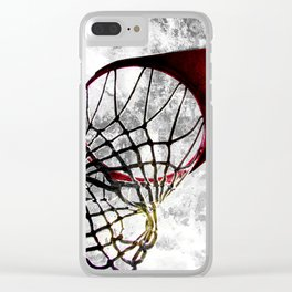 Basketball art swoosh vs 27 Clear iPhone Case