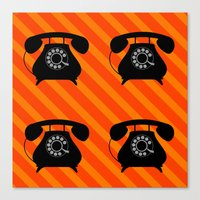 telephone Canvas Prints featuring telephone by vitamin