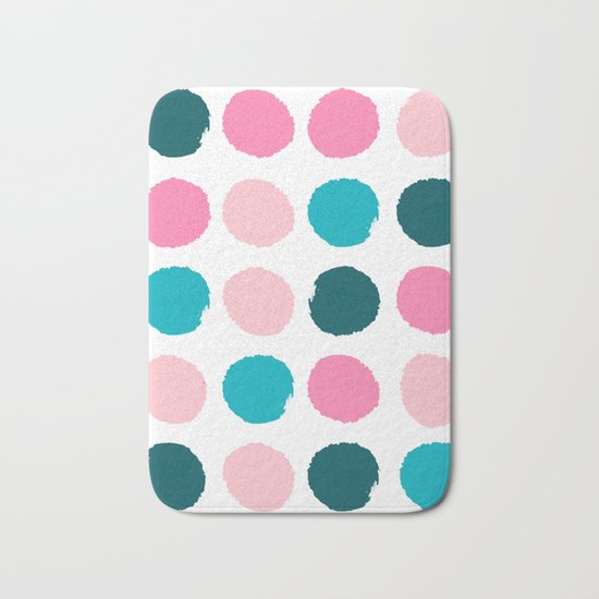 Hugo - abstract modern color palette gender neutral baby nursery dorm college art Bath Mat