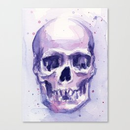 Skull Watercolor Skulls Canvas Print