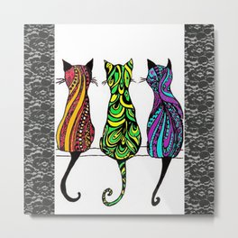 3 Kitties Metal Print