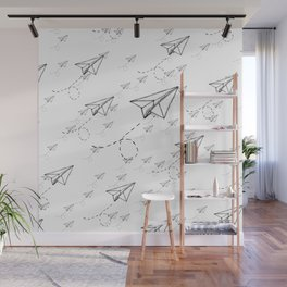 Paper Airplane 9 Wall Mural