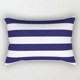 Trendy Navy Stripe Rectangular Pillow