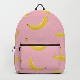 Banana in pink Backpack