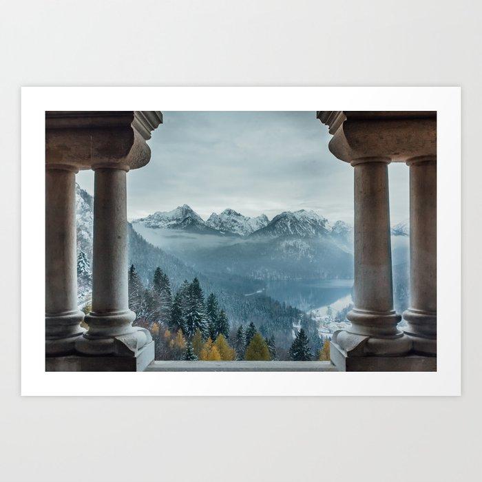The view - Neuschwanstin casle Art Print