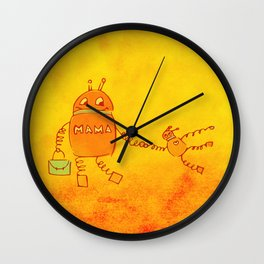 Robomama Robot Mother And Child Wall Clock