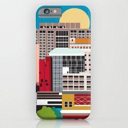 Birmingham, Alabama - Skyline Illustration by Loose Petals iPhone Case