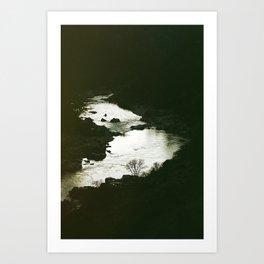 I'll be here at the waters edge Art Print