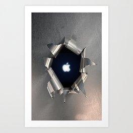 Apple Hole Art Print