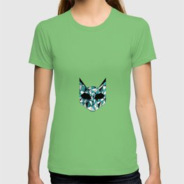 Turquoise Cat T-shirt