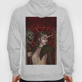 Wonderful dark fairy with skull Hoody