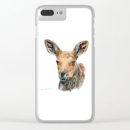 Little Moose by Teresa Thompson Clear iPhone Case