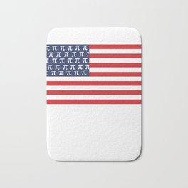 Usa American Flag Pi Day Math Funny Gifts Bath Mat