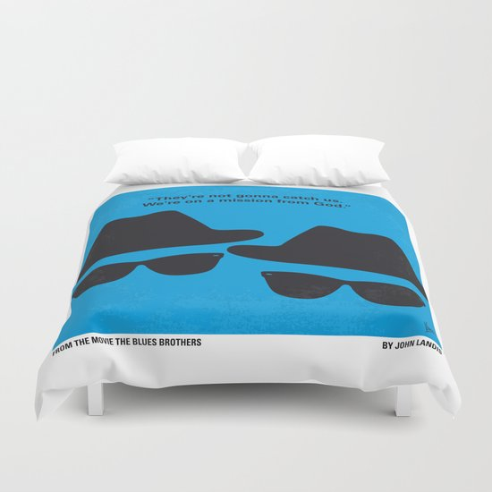 No012 My Blues brothers minimal movie poster Duvet Cover