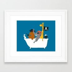 Everybody wants to be the pirate Framed Art Print