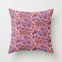 Sea Squad Red Throw Pillow