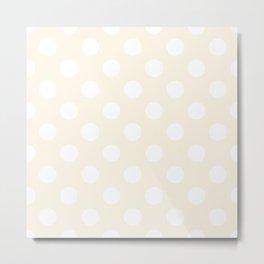 Old lace - pink - White Polka Dots - Pois Pattern Metal Print