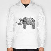 rhino Hoodies featuring Rhino by farah allegue