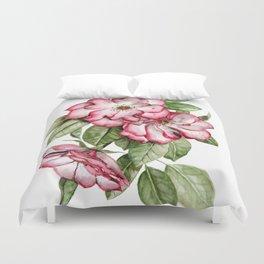 Blooming Pink Garden Roses Duvet Cover