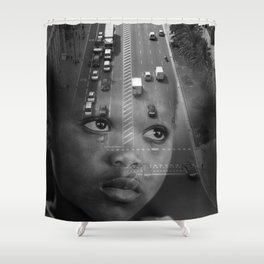 INMIGRANT IN BARCELONA (2017) Shower Curtain