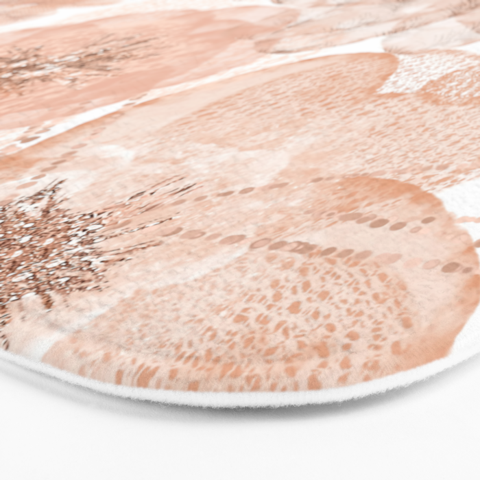 Flowers and Lace- Floral pattern in pink Bath Mat