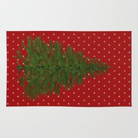 christmas tree Area & Throw Rugs featuring *(Christmas) Tree* by Mr and Mrs Quirynen