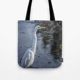 Great Egret at Delta Ponds, No. 1 Tote Bag