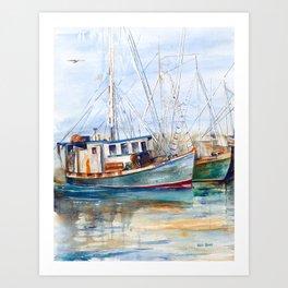Fishing Boats (Namaste) Art Print