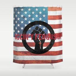 Occupy Ferguson Shower Curtain