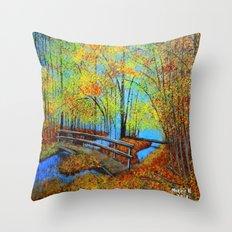 Autumn landscape 4 Throw Pillow