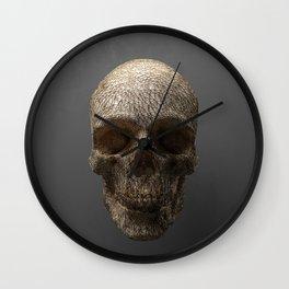 Golden Skull Triangles 1 Wall Clock
