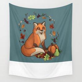 Autumn Fox Wall Tapestry