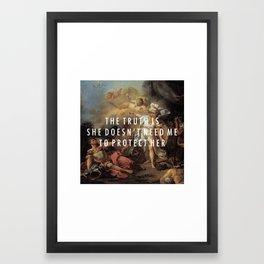Step to Minerva Framed Art Print