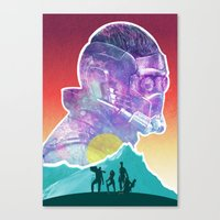 starlord Canvas Prints featuring Starlord...Who? by DamianSantamaria