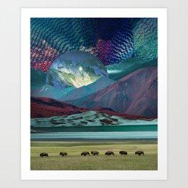 The way of the buffalo Art Print